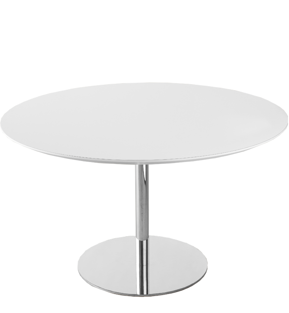 GUBI table series by Gubi Olsen : gubitableroundwhitewith1columnproduct1 from vliving.dk size 581 x 628 png 71kB