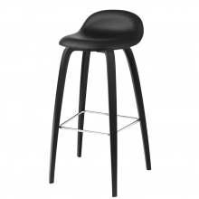 gubi_chair_stool_front_upholsted_black_leather_black_wood_base_front_product resize