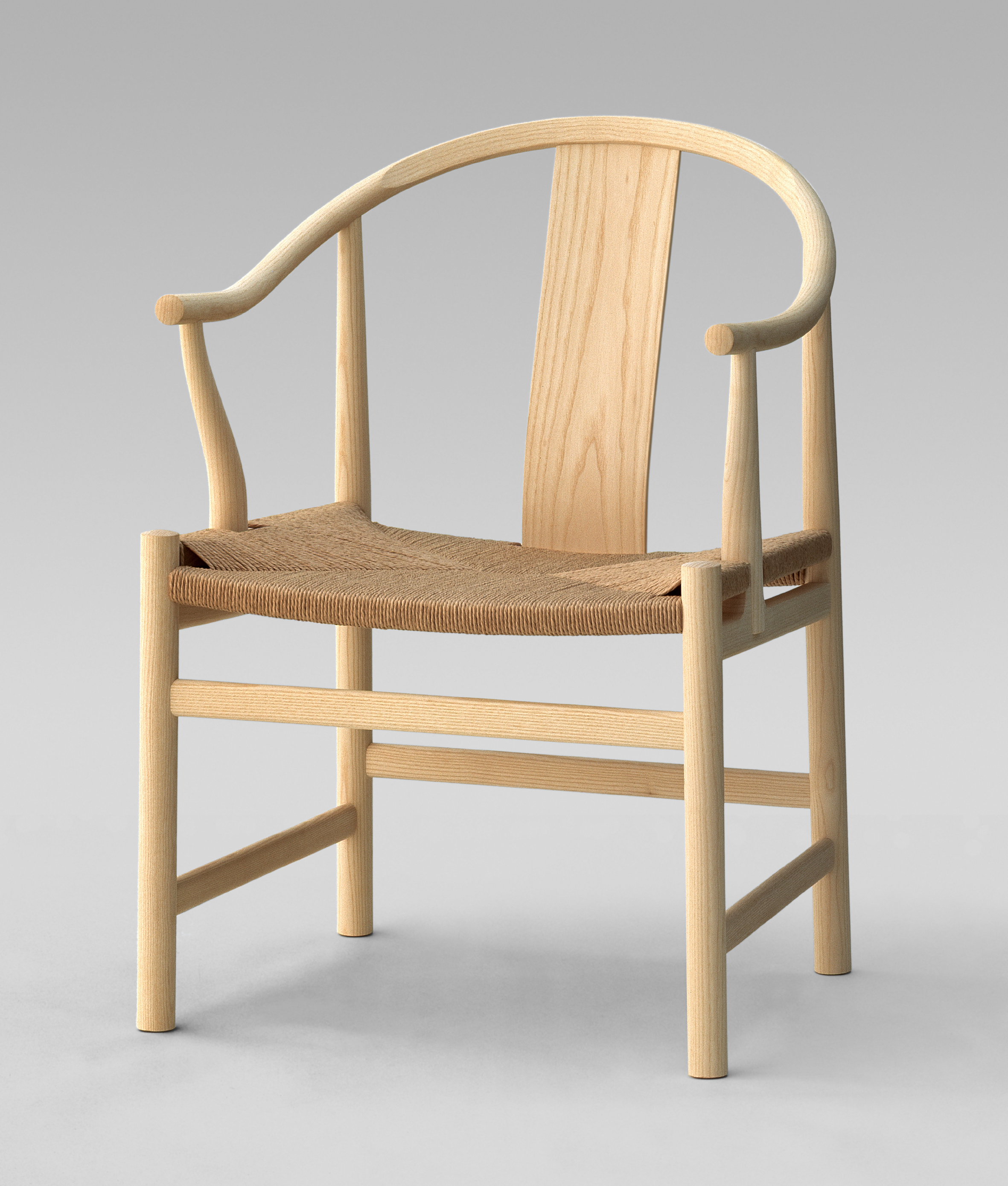 The Chinese Chair Pp66 By Hans Wegner In Ash Papercord Seat